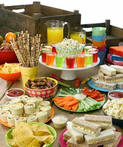Best ideas about Kids Birthday Party Finger Food Ideas . Save or Pin Party food spread for kids Now.