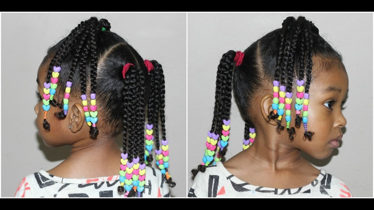 Best ideas about Kids Hairstyles With Beads . Save or Pin Kids Braided Hairstyle with Beads Now.