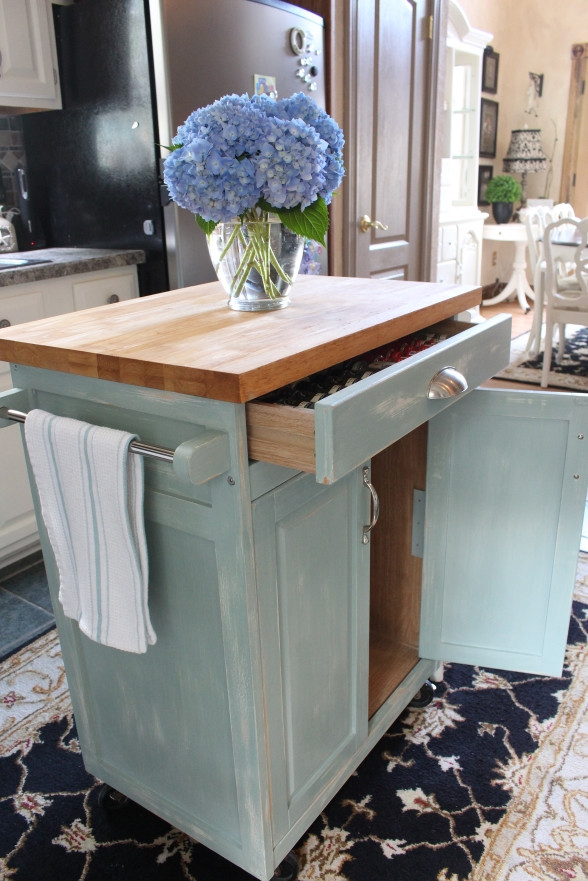 Best ideas about Kitchen Cart DIY . Save or Pin Rolling Kitchen Cart Makeover Now.