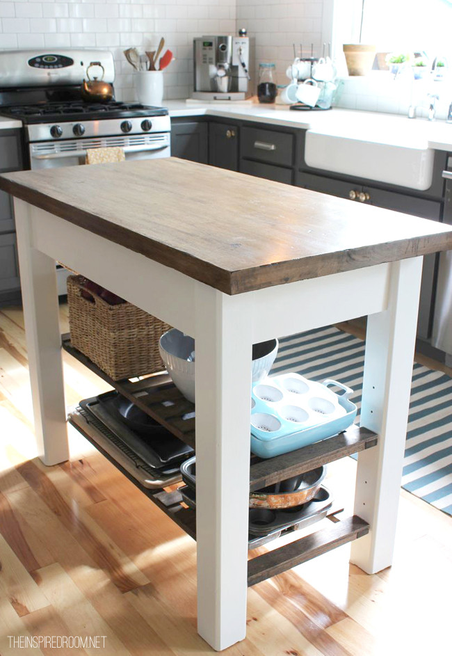 Best ideas about Kitchen Cart DIY . Save or Pin DIY Kitchen Island from new unfinished furniture to Now.
