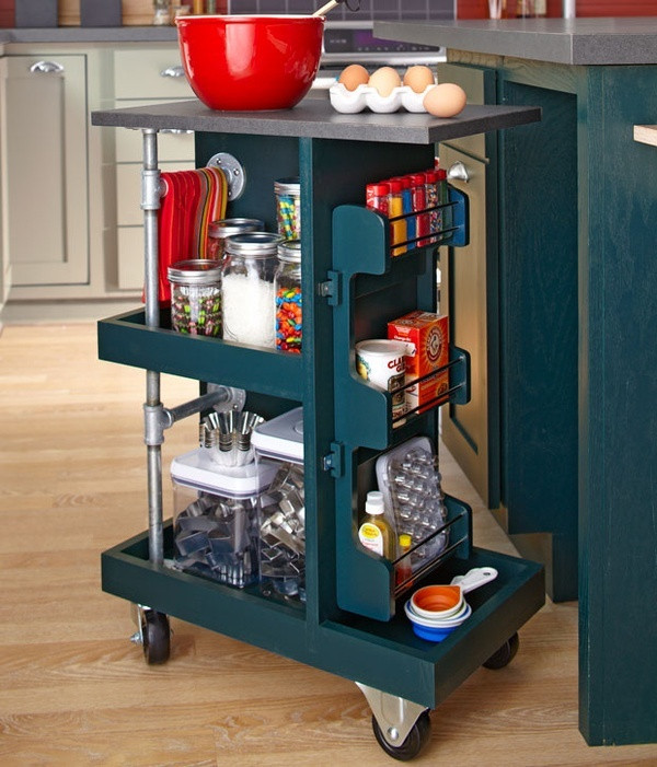 Best ideas about Kitchen Cart DIY . Save or Pin Kitchen Storage Cart DIY For the Home Now.