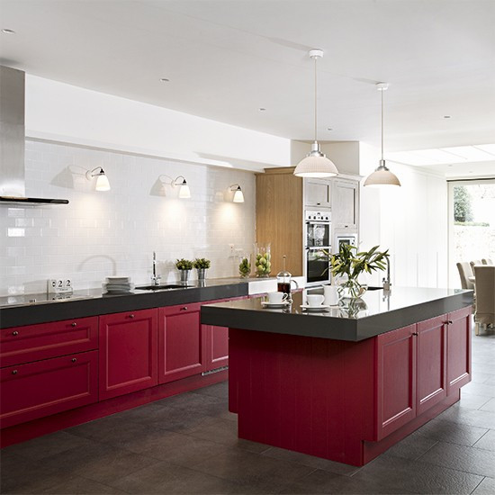 Best ideas about Kitchen Ideas Colours . Save or Pin Red kitchen colour ideas home trends Now.