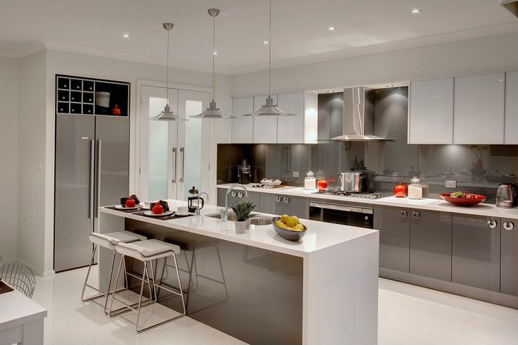 Best ideas about Kitchen Ideas Colours . Save or Pin grey cupboards white oak floors white benchtops Now.