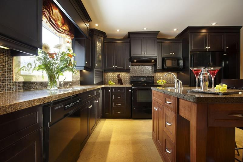 Best ideas about Kitchen Ideas With Dark Cabinets . Save or Pin 18 Kitchen Designs Incorporating Dark RTA Cabinets Now.