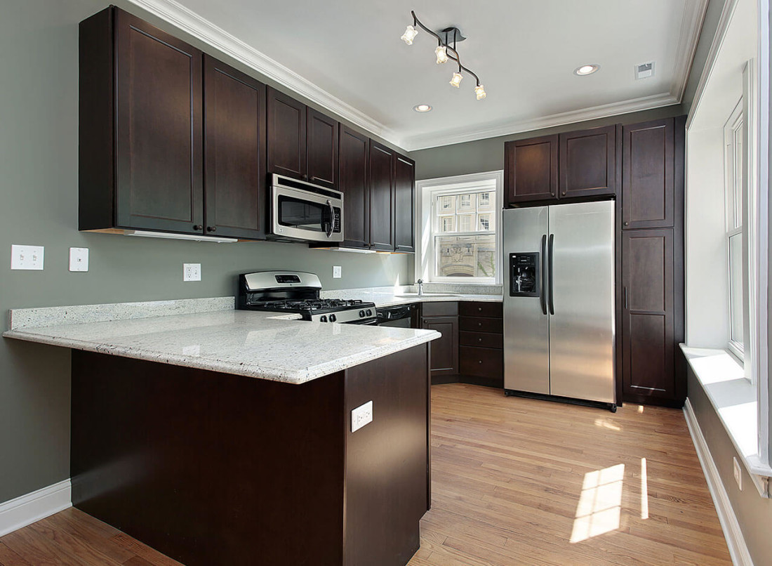 Best ideas about Kitchen Ideas With Dark Cabinets . Save or Pin Kitchen Design Gallery Great Lakes Granite & Marble Now.