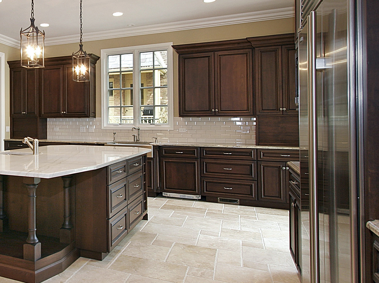 Best ideas about Kitchen Ideas With Dark Cabinets . Save or Pin 12 Best Collection of Kitchen Designs Dark Cabinets Now.
