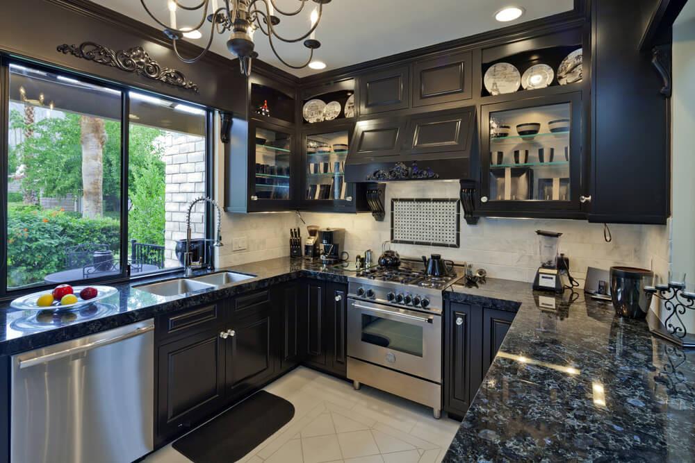 Best ideas about Kitchen Ideas With Dark Cabinets . Save or Pin 46 Kitchens With Dark Cabinets Black Kitchen Now.