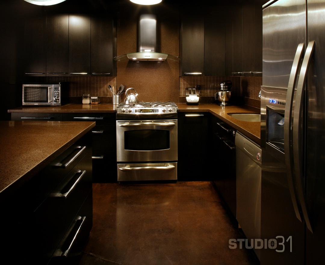 Best ideas about Kitchen Ideas With Dark Cabinets . Save or Pin 12 Playful Dark Kitchen Designs Ideas & Now.