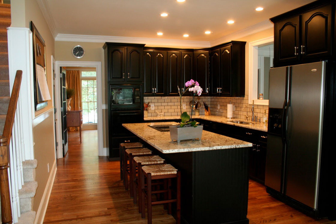 Best ideas about Kitchen Ideas With Dark Cabinets . Save or Pin Kitchen Remodeling Contractor Cabinets Counters Flooring Now.