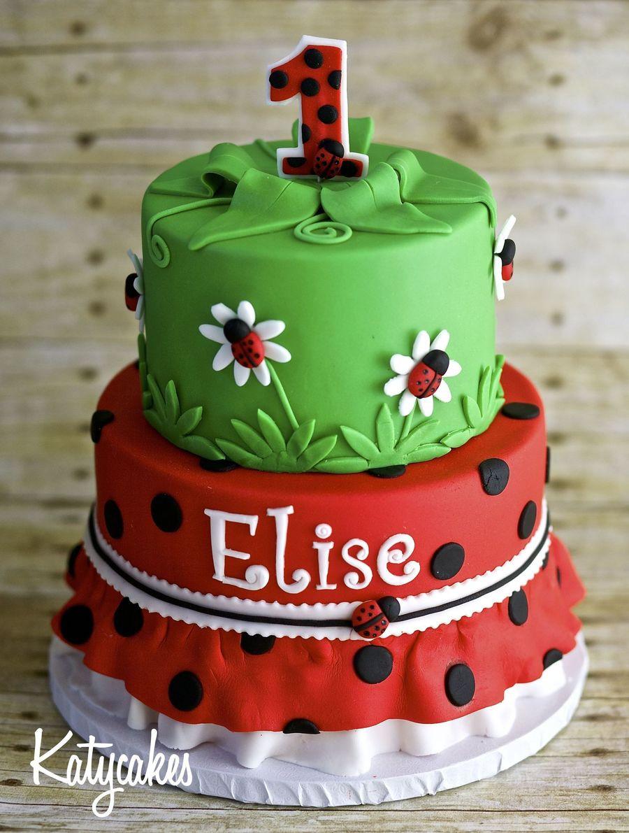Best ideas about Ladybug Birthday Cake . Save or Pin Ladybug 1St Birthday Cake CakeCentral Now.