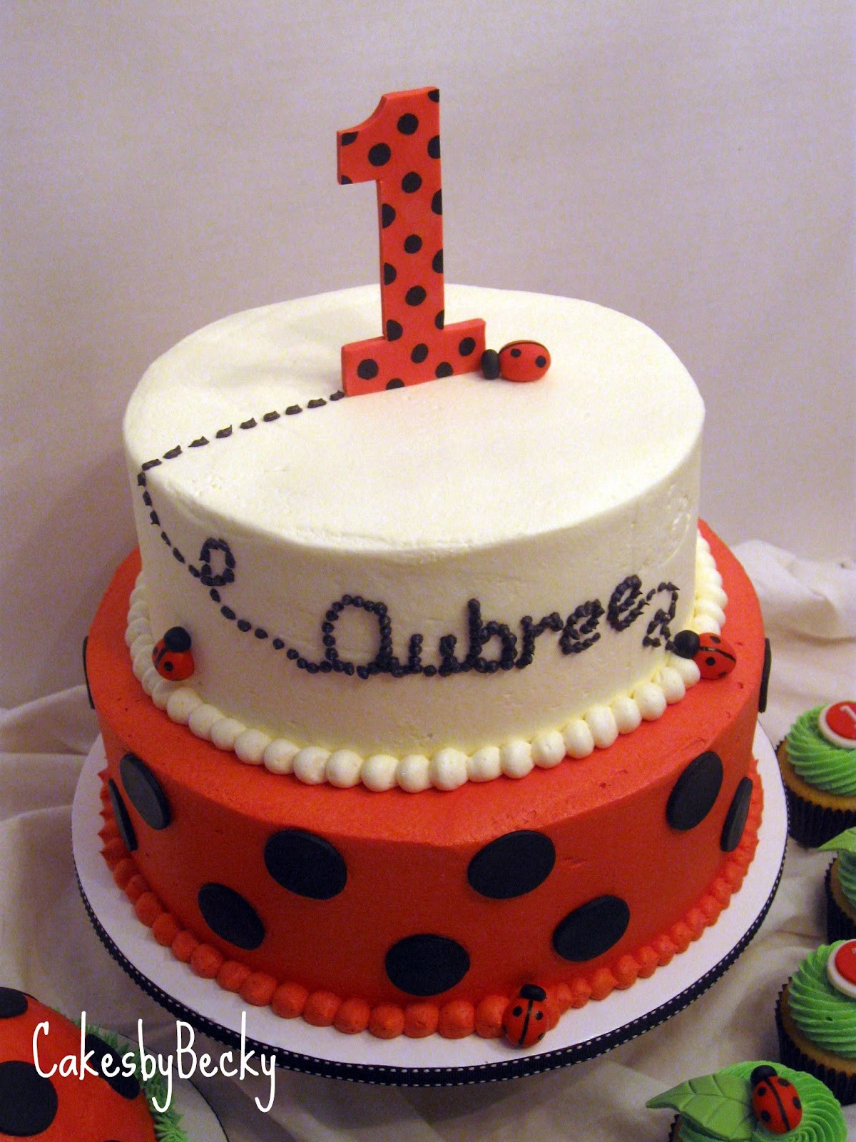 Best ideas about Ladybug Birthday Cake . Save or Pin Cakes by Becky Ladybug First Birthday Now.