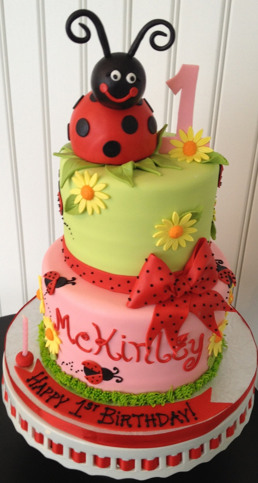 Best ideas about Ladybug Birthday Cake . Save or Pin Lady Bug 1St Birthday Cake CakeCentral Now.