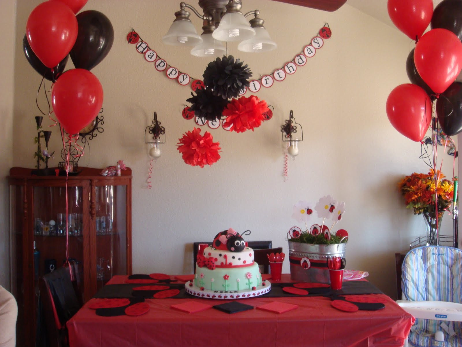 Best ideas about Ladybug Birthday Decorations . Save or Pin Expressions By Devin Ladybug 1st Birthday Bash Now.