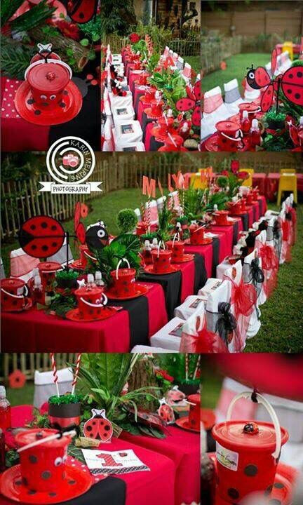 Best ideas about Ladybug Birthday Decorations . Save or Pin Image result for miraculous ladybug theme party Now.