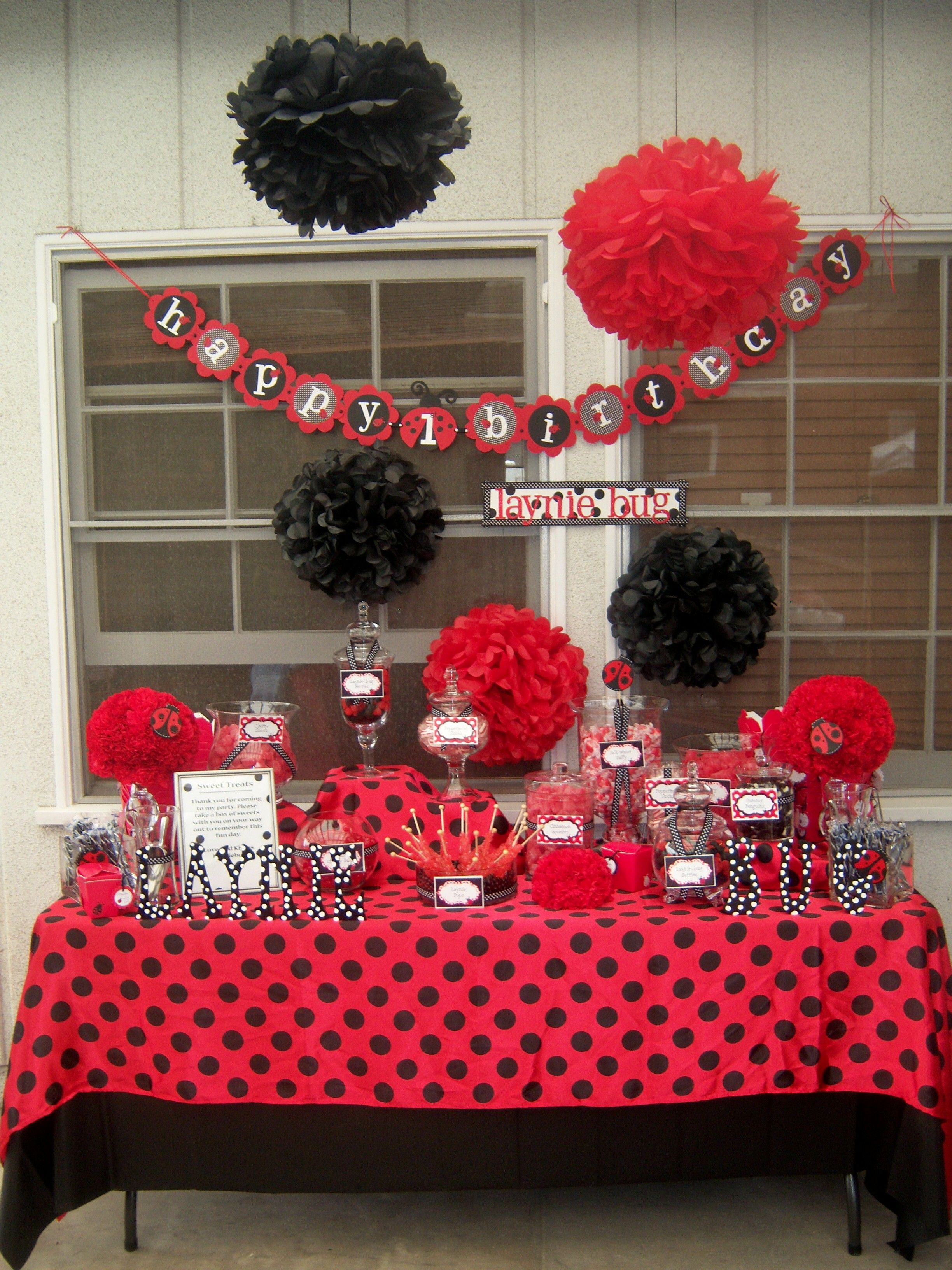 Best ideas about Ladybug Birthday Decorations . Save or Pin Ladybug Birthday ladybug birthday Now.