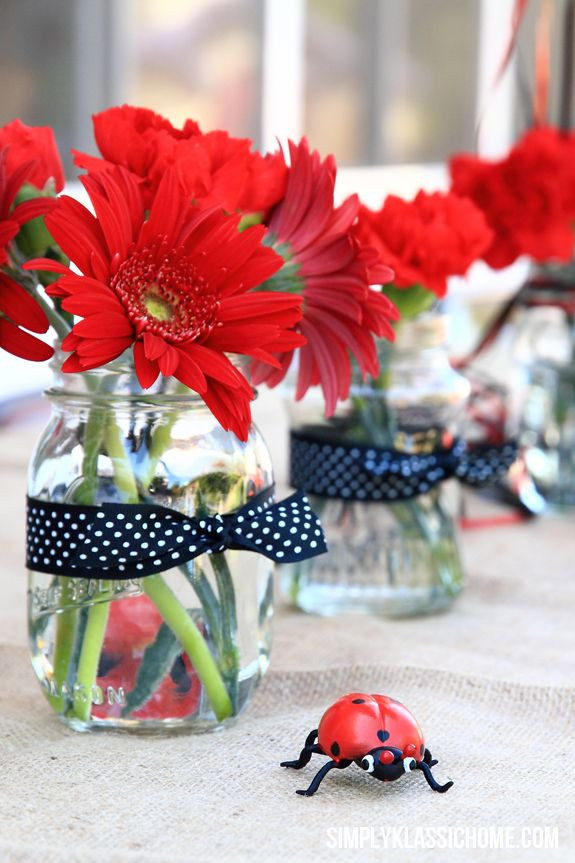 Best ideas about Ladybug Birthday Decorations . Save or Pin Ladybug Centerpieces on Pinterest Now.
