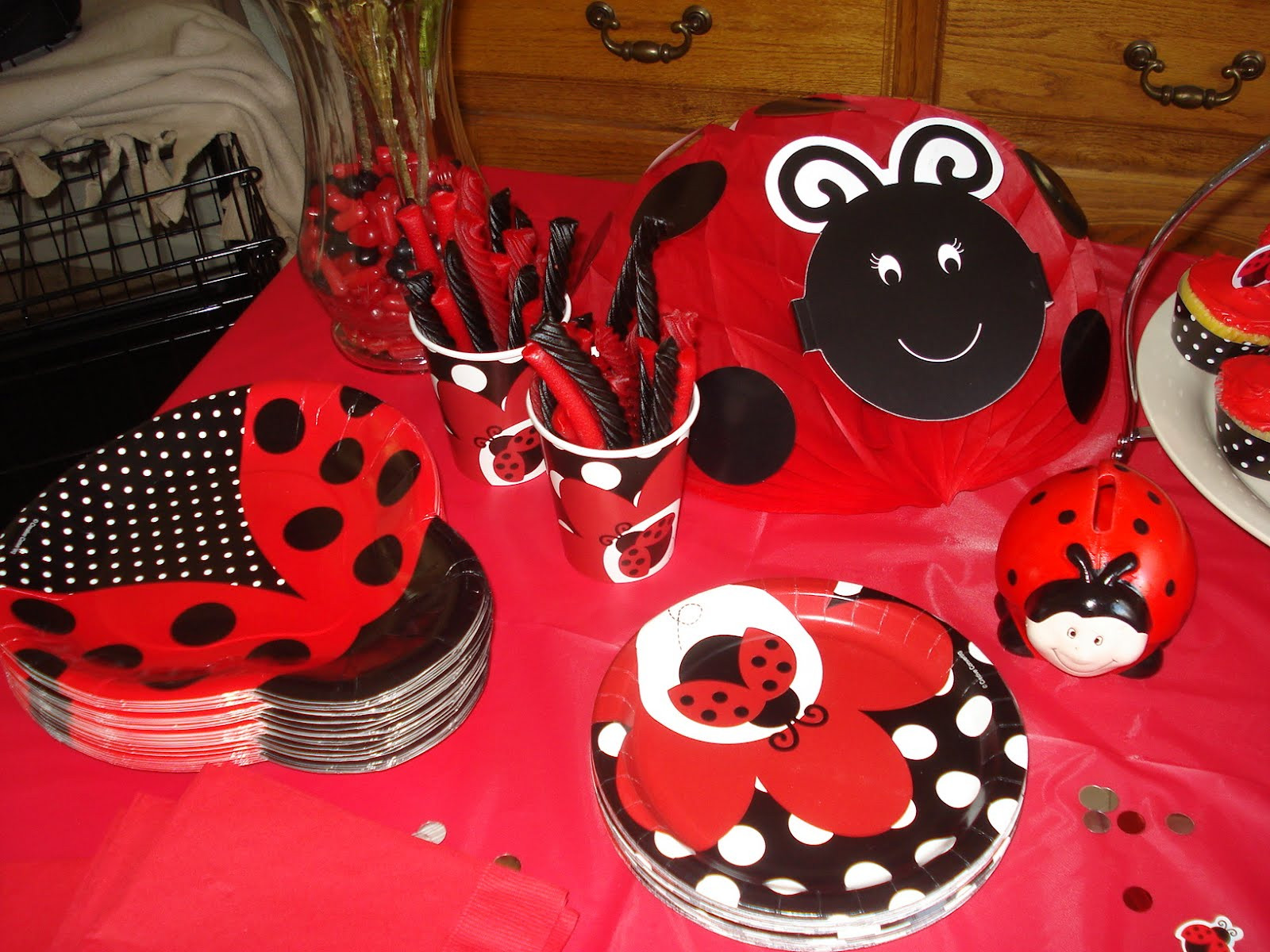 Best ideas about Ladybug Birthday Decorations . Save or Pin gold country girls A Ladybug Birthday Party Now.