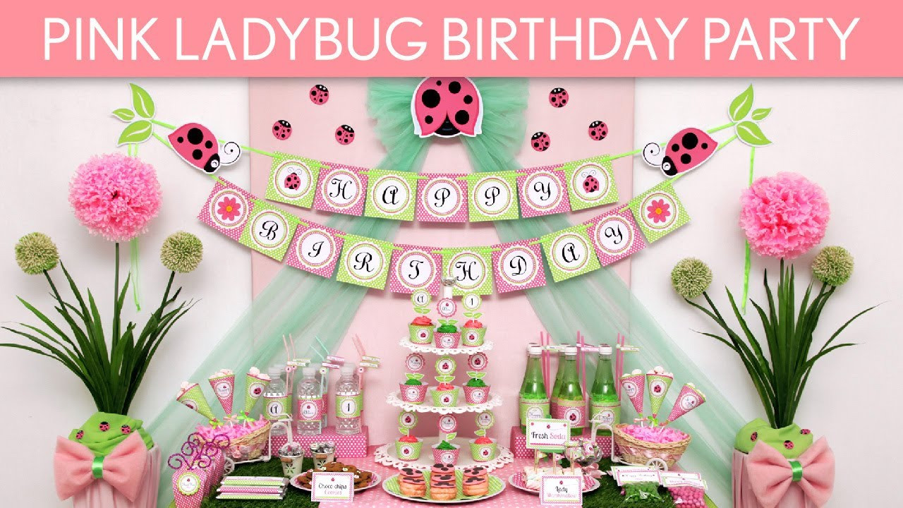 Best ideas about Ladybug Birthday Party . Save or Pin Pink Ladybug Birthday Party Ideas Pink Ladybug B114 Now.
