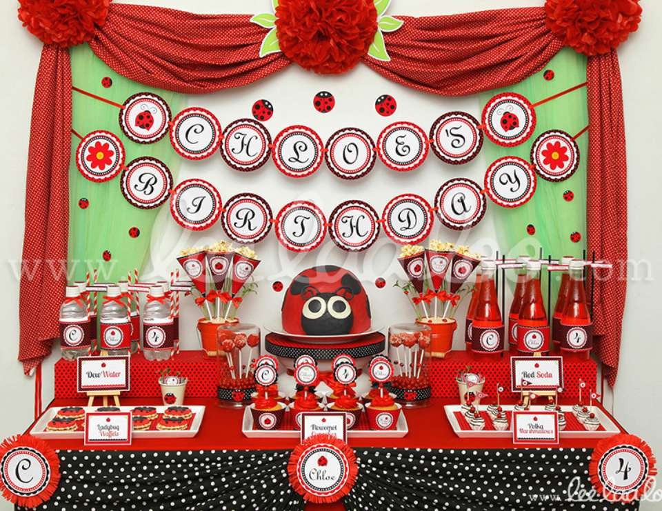 """Best ideas about Ladybug Birthday Party . Save or Pin Ladybugs Birthday """"Ladybug Party Theme B35"""" Now."""