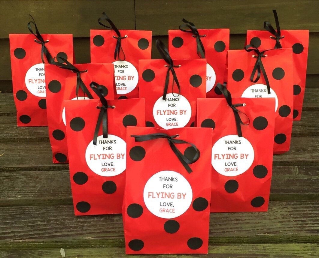 Best ideas about Ladybug Birthday Party . Save or Pin Personalized Ladybug Birthday Party Favor Bags Ladybug Treat Now.
