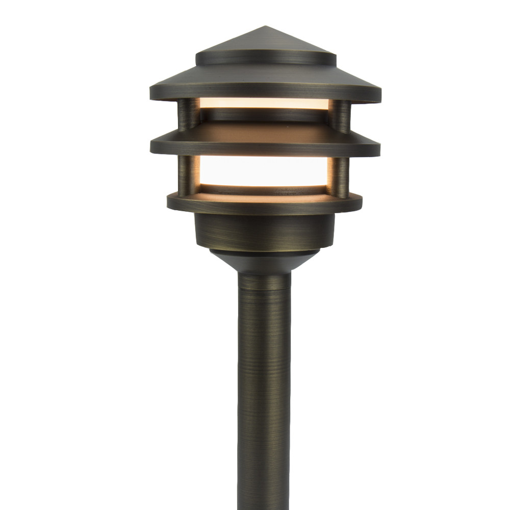 Best ideas about Landscape Light Bulbs . Save or Pin Premier Pagoda Brass Now.