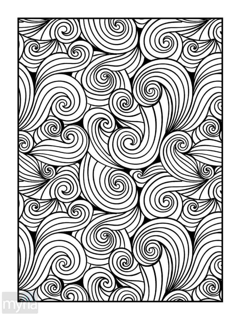 Best ideas about Large Adult Coloring Books . Save or Pin Print Adult Coloring Book 4 Big Beautiful Now.