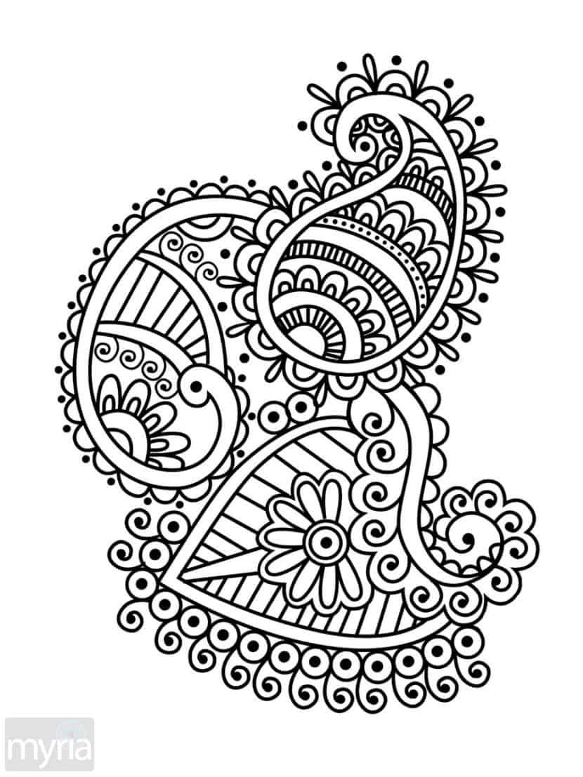 Best ideas about Large Adult Coloring Books . Save or Pin Print Adult Coloring Book 1 Big Beautiful Now.