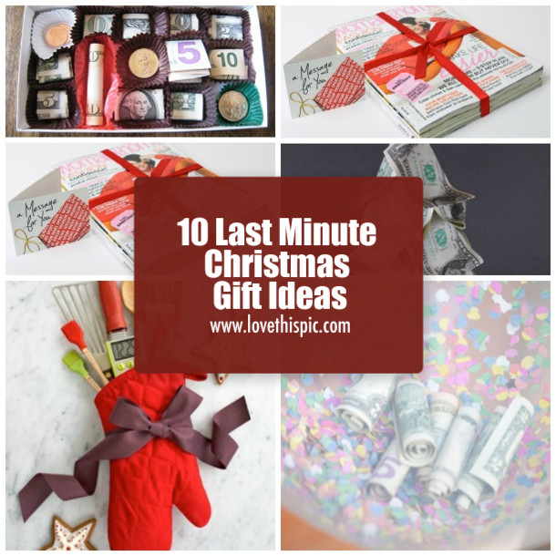 Best ideas about Last Minute Christmas Gift Ideas . Save or Pin 10 Last Minute Christmas Gift Ideas Now.