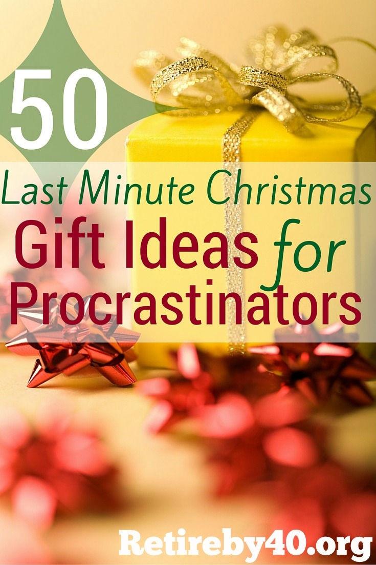 Best ideas about Last Minute Christmas Gift Ideas . Save or Pin 50 Last Minute Christmas Gift Ideas for Procrastinators Now.