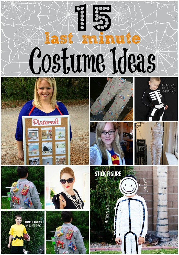 Best ideas about Last Minute DIY Costume . Save or Pin 15 Last Minute DIY Costume Ideas unOriginal Mom Now.