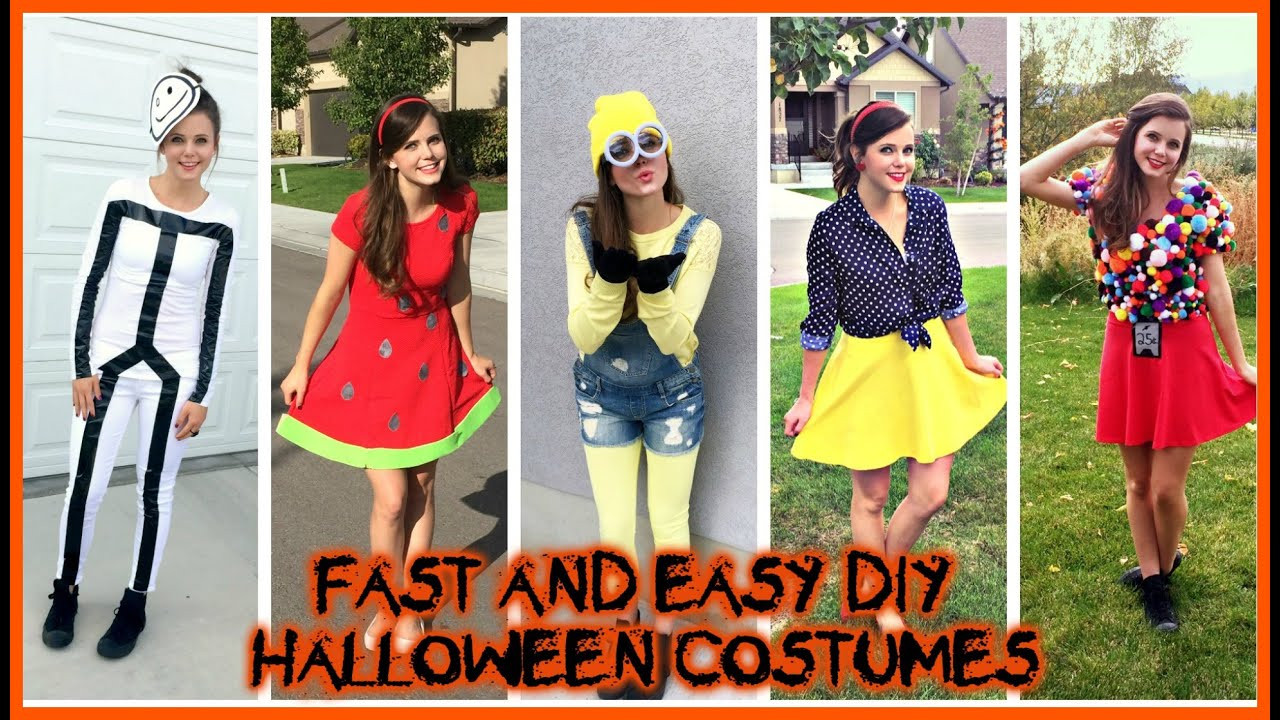 Best ideas about Last Minute DIY Costume . Save or Pin DIY HALLOWEEN COSTUMES Super Easy Cheap Last Minute Ideas Now.