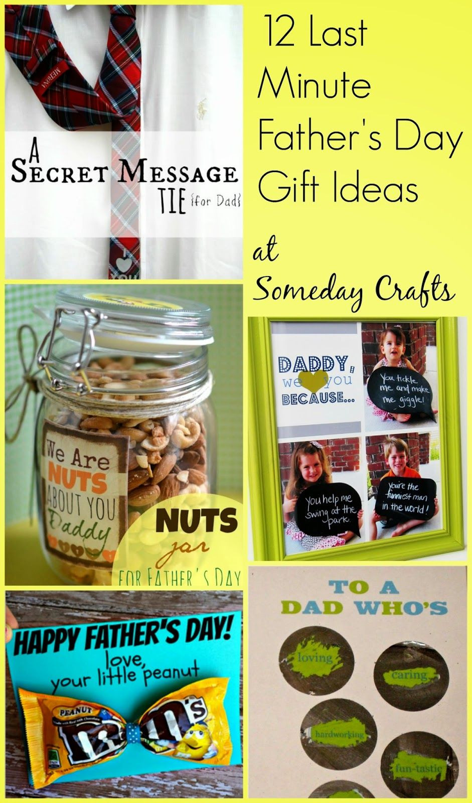 Best ideas about Last Minute Gift Ideas For Dad . Save or Pin Someday Crafts 12 Last Minute Father s Day Gifts Now.