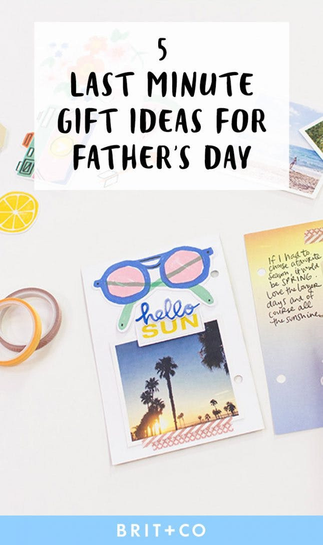 Best ideas about Last Minute Gift Ideas For Dad . Save or Pin 5 Easy Last Minute Gift Ideas for Father's Day Now.