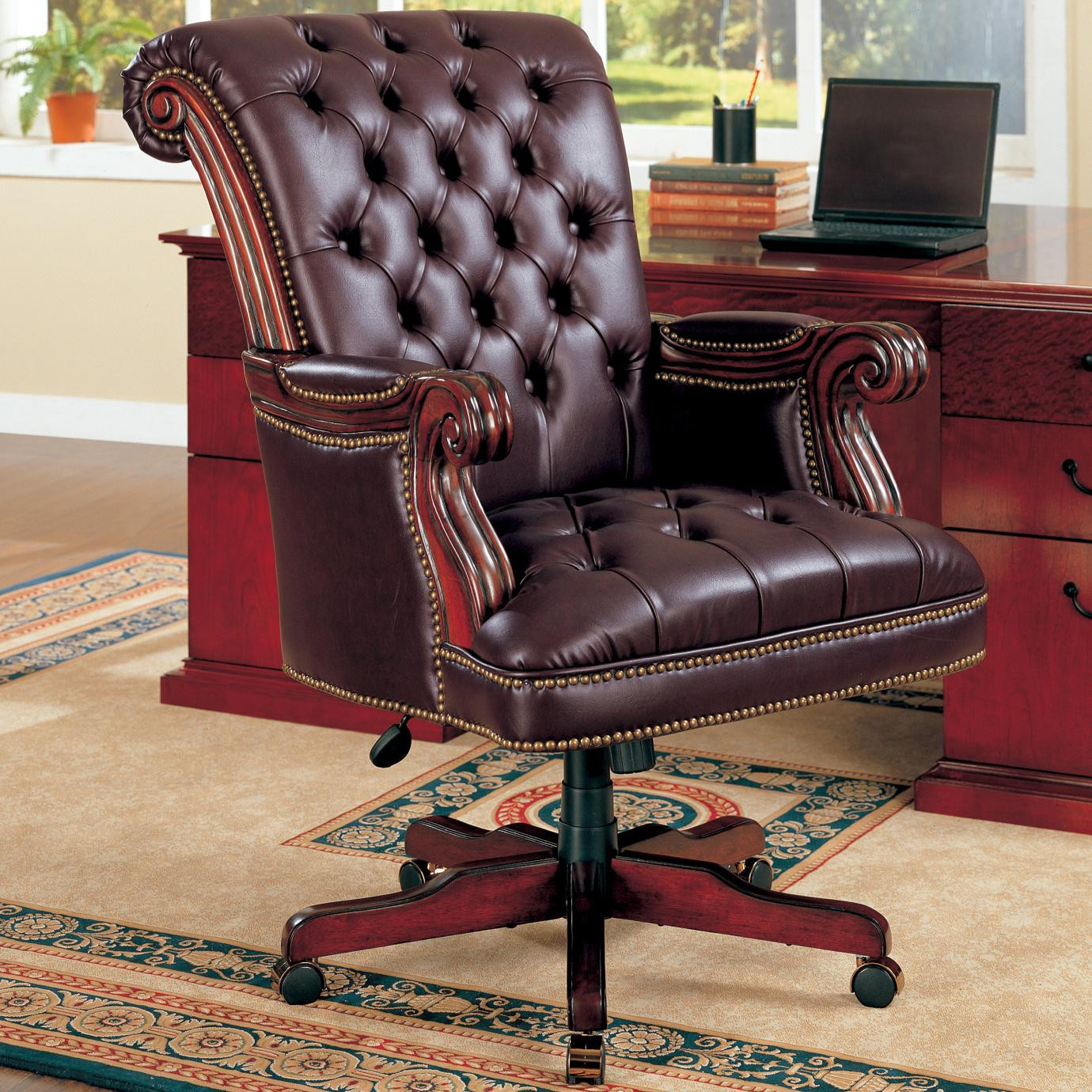 Best ideas about Leather Office Chair . Save or Pin Coaster fice Chairs Traditional Leather Executive Now.