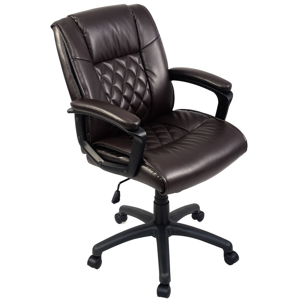 Best ideas about Leather Office Chair . Save or Pin Ergonomic PU Leather Mid Back Executive puter Desk Task Now.