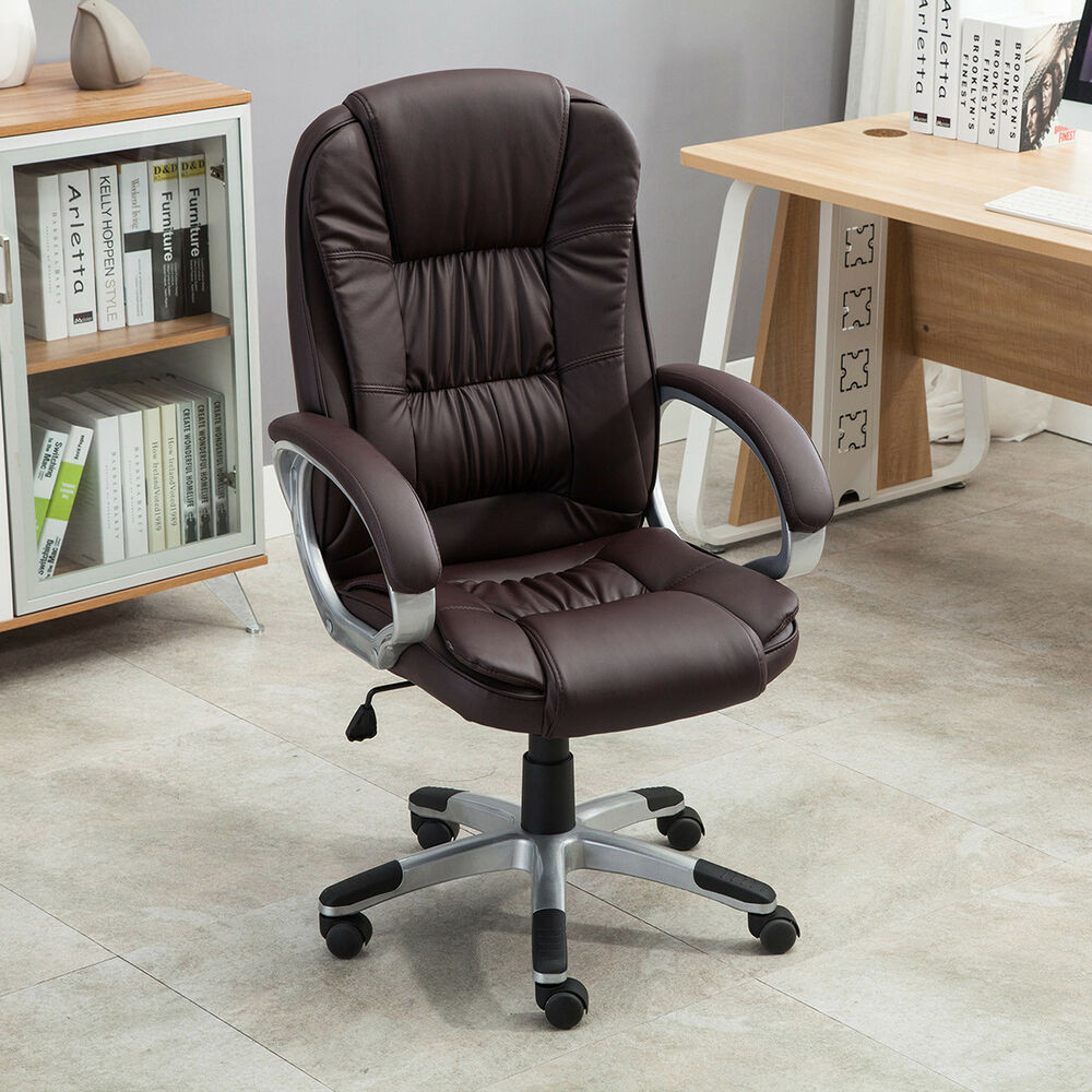 Best ideas about Leather Office Chair . Save or Pin Executive High Back PU Leather puter Desk Ergonomic Now.