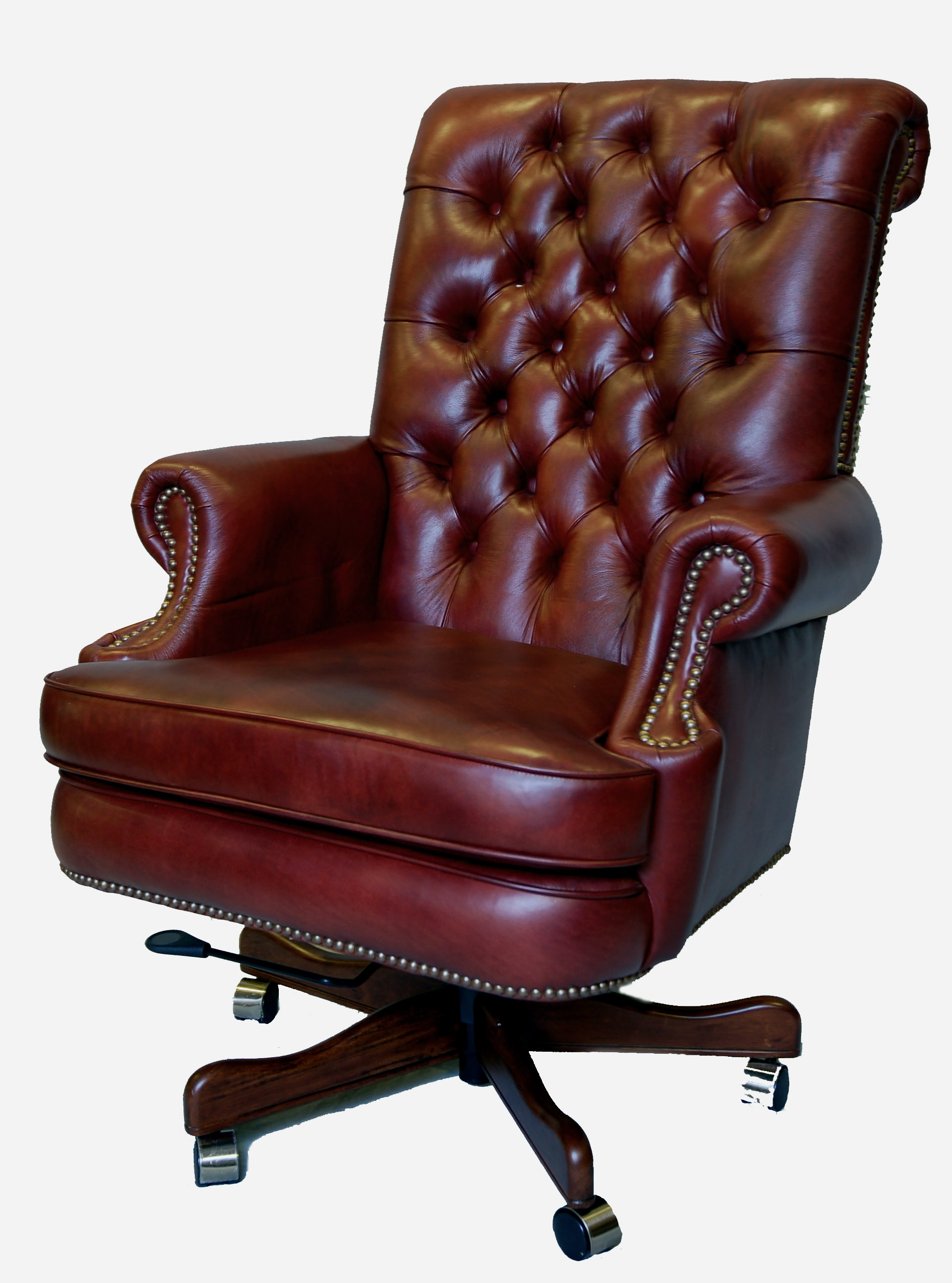 Best ideas about Leather Office Chair . Save or Pin Genuine Leather Executive fice Desk Chair Now.
