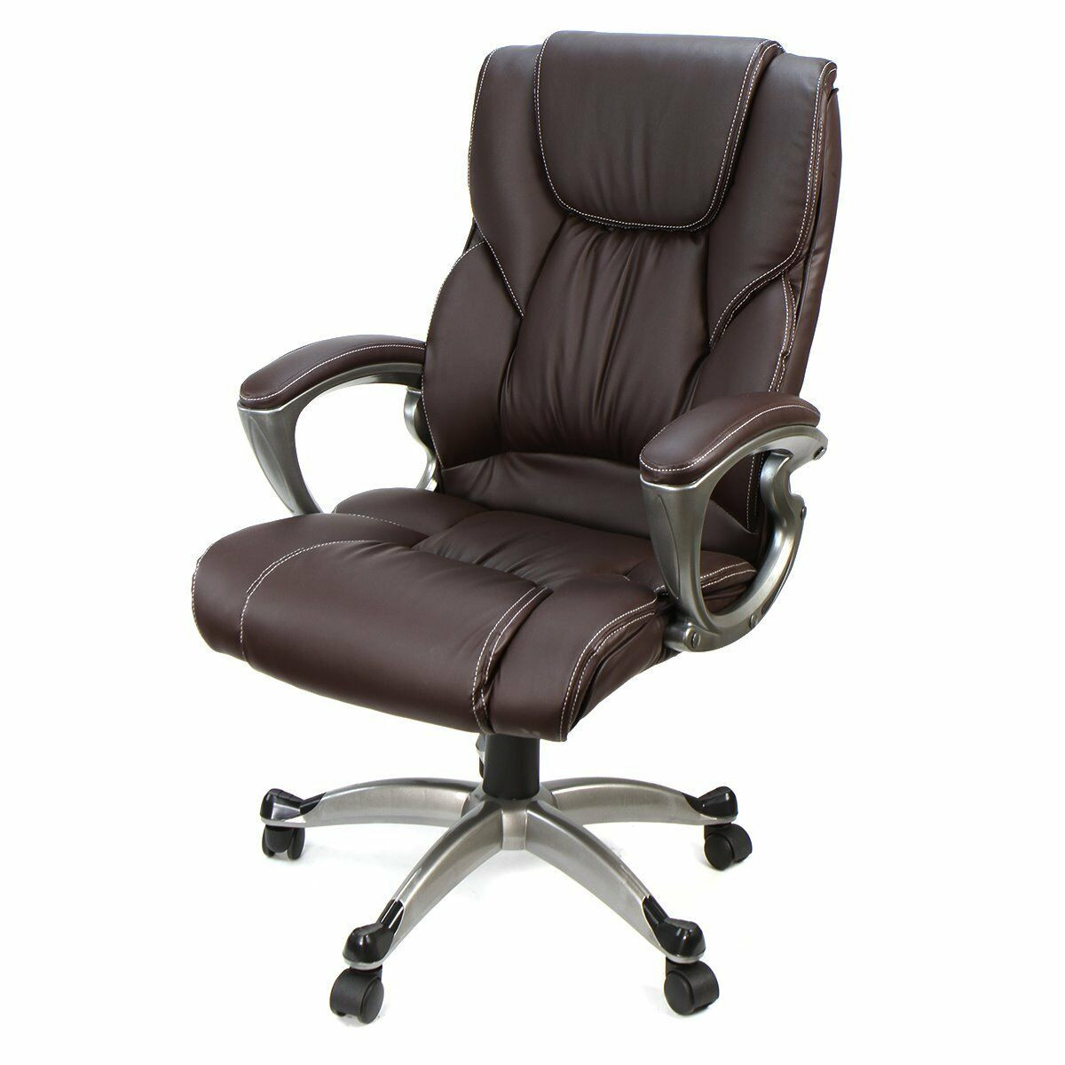 Best ideas about Leather Office Chair . Save or Pin Brown PU Leather High Back fice Chair Executive Task Now.
