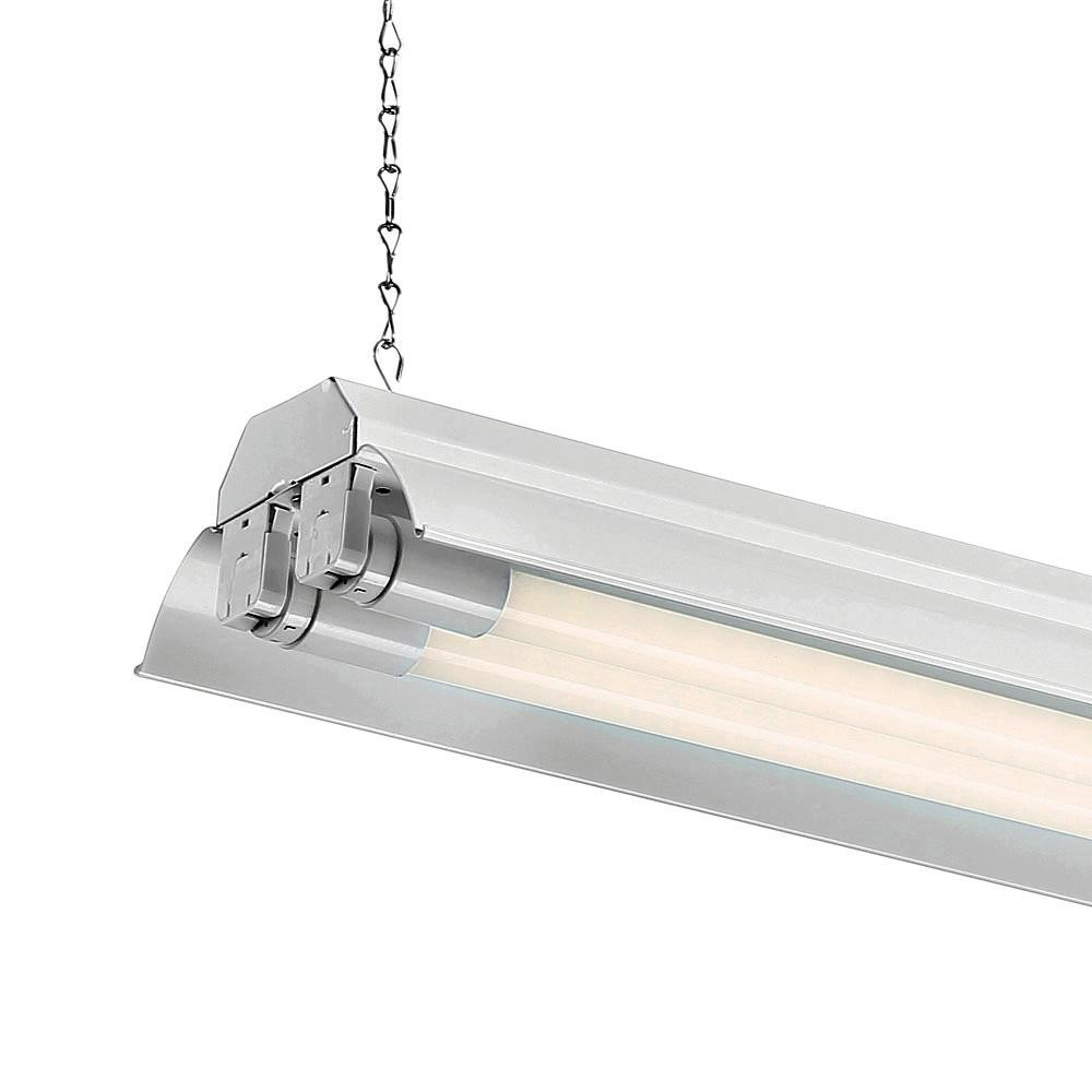 Best ideas about Led Shop Lighting . Save or Pin EnviroLite 4 ft 2 Light White LED Shop Light with T8 LED Now.