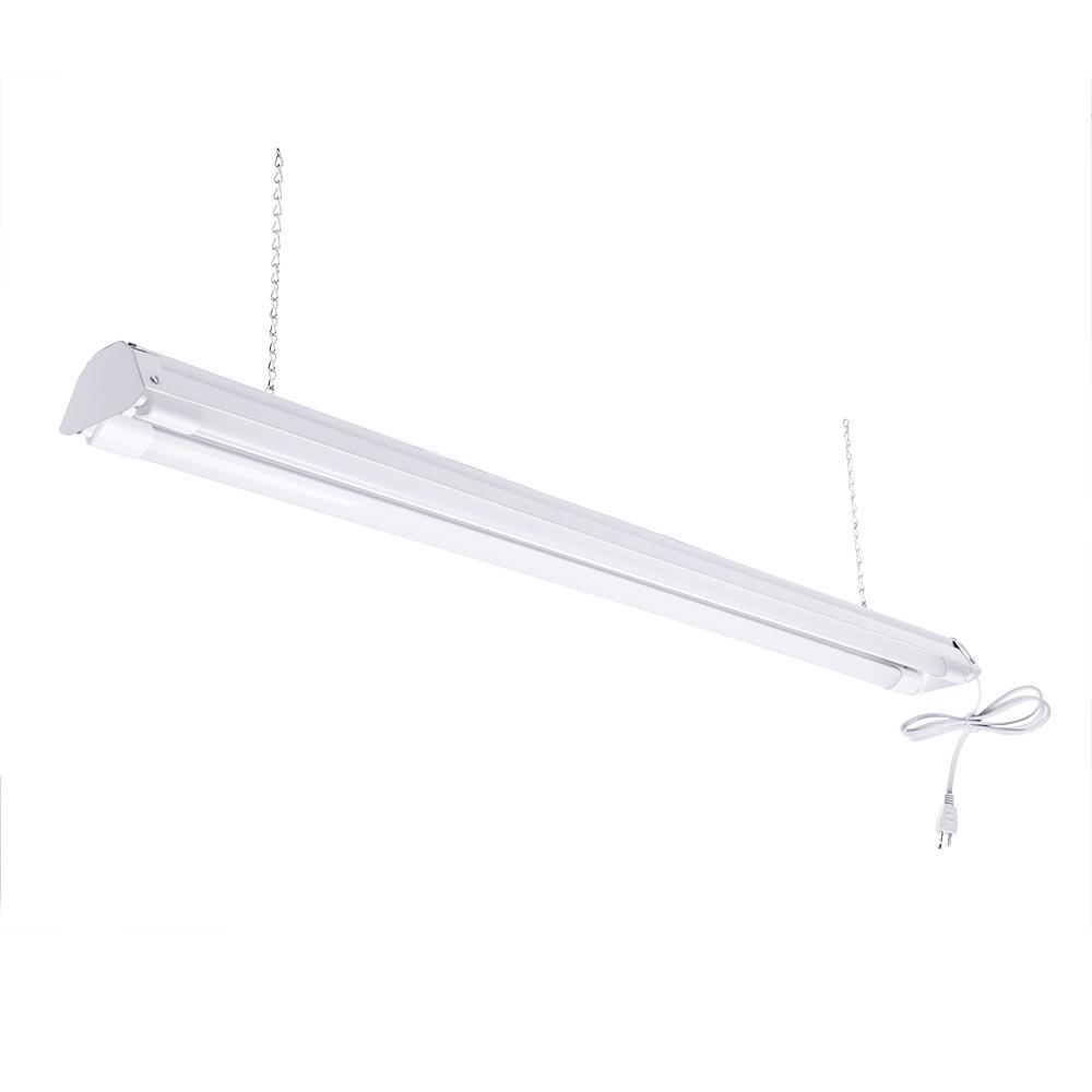 Best ideas about Led Shop Lighting . Save or Pin toggled 2 Light 4 ft White 5000K LED Shop Light LED Now.
