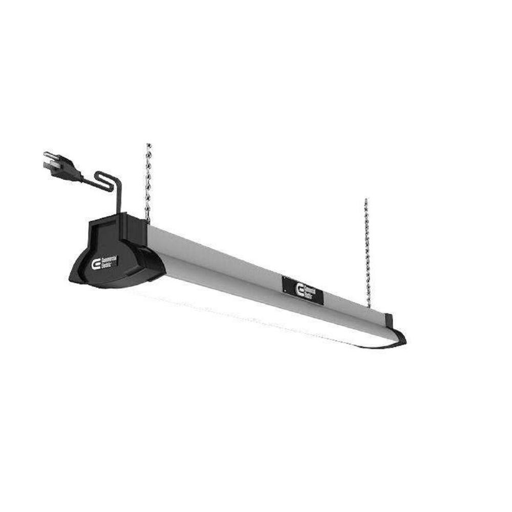 Best ideas about Led Shop Lighting . Save or Pin mercial Electric 42 in Brushed Nickel Bright White LED Now.