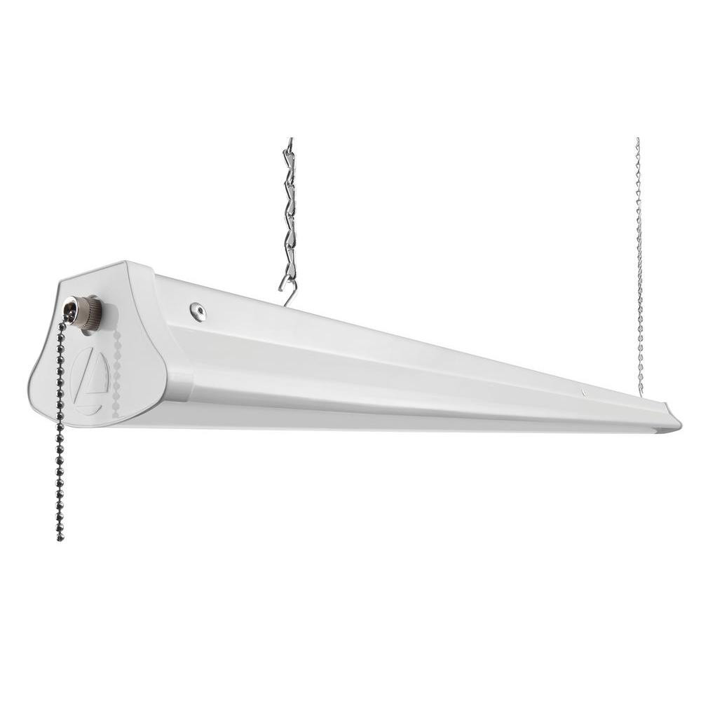 Best ideas about Led Shop Lighting . Save or Pin Lithonia Lighting 28 Watt White LED Chain Mount Shop Light Now.