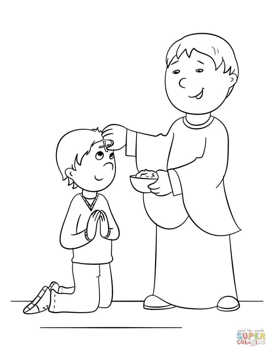 Best ideas about Lent Preschool Coloring Sheets . Save or Pin Ash Wednesday coloring page Now.