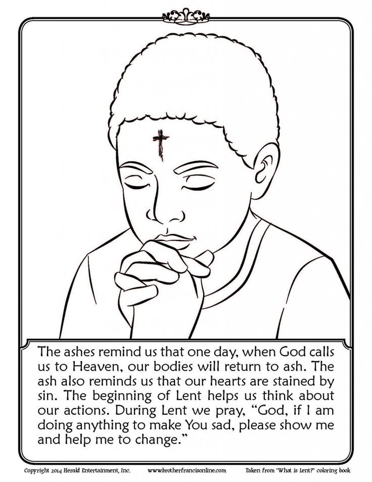 Best ideas about Lent Preschool Coloring Sheets . Save or Pin Free coloring page AshWednesday Lent Now.