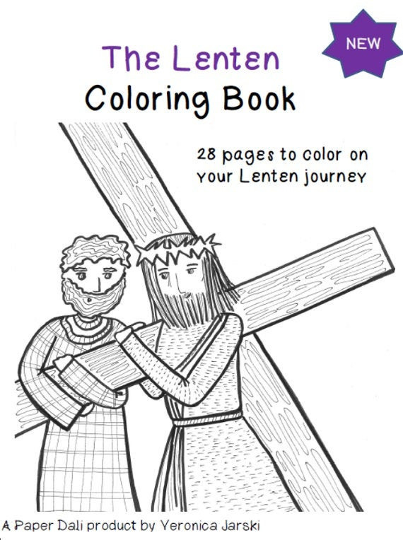 Best ideas about Lent Preschool Coloring Sheets . Save or Pin The Lenten Coloring Book Printable by paperdali on Etsy Now.