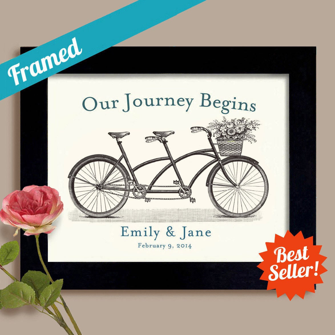 Best ideas about Lesbian Wedding Gift Ideas . Save or Pin Gay and Lesbian Wedding Gift Our Journey Begins Engagement Now.