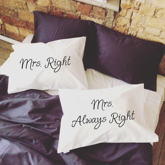 Best ideas about Lesbian Wedding Gift Ideas . Save or Pin Lesbian Wedding Gift Mrs Right Mrs Always Right lesbian Now.