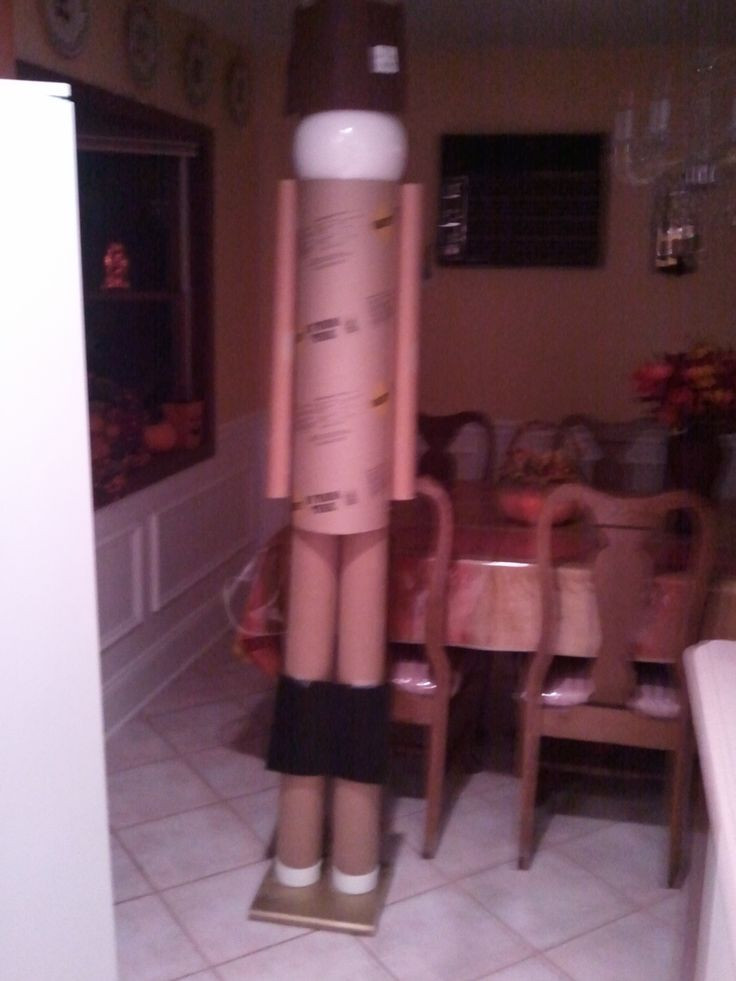 Best ideas about Life Size Nutcracker DIY . Save or Pin 6ft nutcracker made from cardboard tubes with Styrofoam Now.