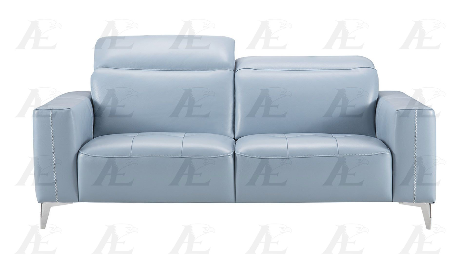 Best ideas about Light Blue Leather Sofa . Save or Pin Light Blue Italian Full Leather Sofa Set Now.
