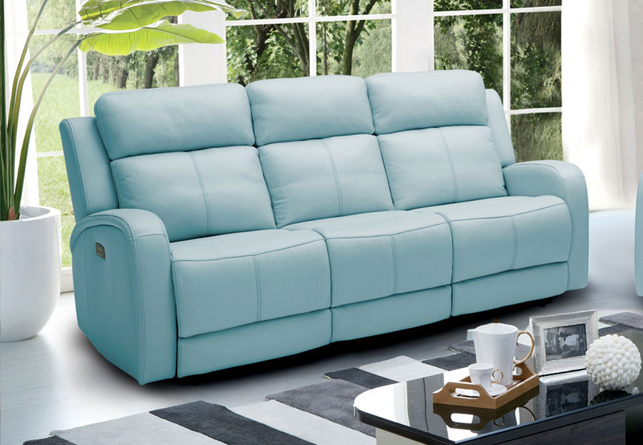 Best ideas about Light Blue Leather Sofa . Save or Pin The Furniture Warehouse Beautiful Home Furnishings at Now.